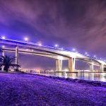Gateway-Bridge-at-night-with-some-amazing-clouds-and-the-brisbane-river-Australian-landscape-HDR-photography