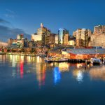 Golden-Hour-at-King-Street-Wharf-blue-hour-sunset-darling-harbour-hdr-photography-australia