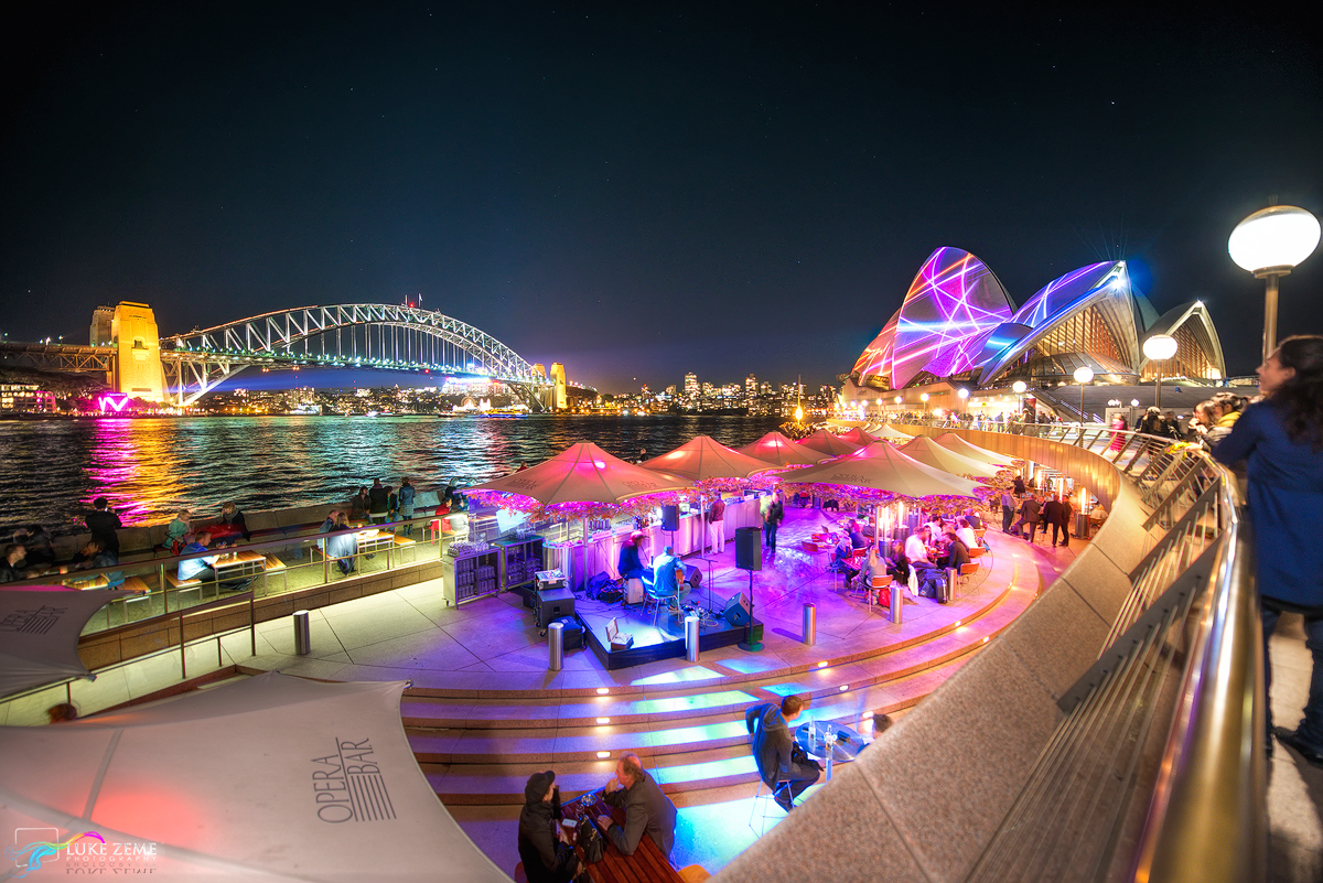 Luke Zeme Photography Pink-Band-at-the-Opera-House Vivid Sydney, Tips and Tricks
