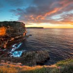 Gap-Bluff-On-the-Horizon-Sunrise-at-the-Gap-Sydney-Australian-Seascape-hdr-photography-rocks-sea-ocean