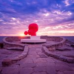 Blowing-a-Bubble-sculpture-by-the-sea-bondi-beach-Australian-landscapes