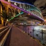 Sydney-Harbour-Vivid-long-exposure-of-circular-quay-from-sydney-harbour-bridge-Vivid-Tips-and-tricks