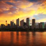 Sydney's-Skyline-during-a-golden-sunset-amazing-australian-HDR-landscape