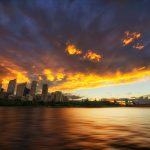Sydneys-Vanishing-Point-an-incredible-sunset-over-city-skyline-opera-house-harbour-bridge-HDR