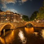 On-the-Canal-moon-light-in-amsterdam-at-night-under-the-stars