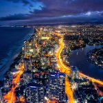 Looking-Down-surfers-Paradise-cityscape-hdr-night-coast
