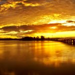 Bermagui-Bridge-golden-sunset-on-the-lake