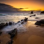 The-Wall-Glasshouse-Rocks-sunset-beach